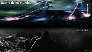 """Comparación sonidos apocalípticos y sonidos de la película """"La guerra de los mundos"""""""