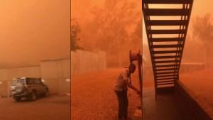 Una fuerte tormenta de arena envuelve a la capital de Níger y la deja en una completa oscuridad