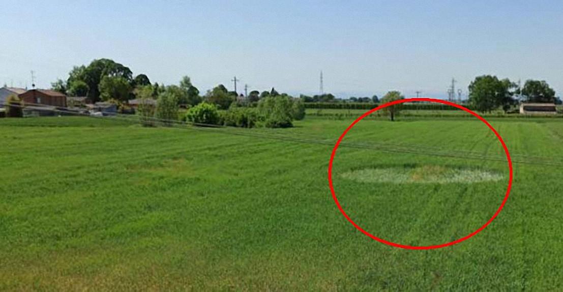 Aparece un misterioso círculo en los cultivos en Italia