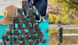 Un pescador hace un sorprendente hallazgo en un río descubre 60 extraños cubos con inscripciones sagradas numéricas