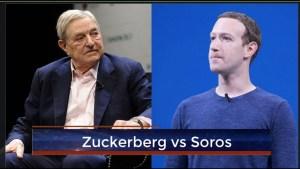 Zuckerberg desafía a Soros y apoya a Trump