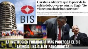 "La elite financiera Internacional prevé ""ola de Bancarrotas"""