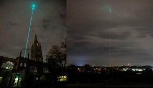 Misterioso rayo en el cielo causa pánico en los residentes de Reino Unido creían que era una invasión extraterrestre