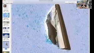 ¿Es este un obelisco inacabado a medio cortar en la Antártida?
