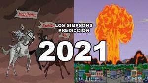 La siniestra predicción de Los Simpsons en enero y abril de 2021
