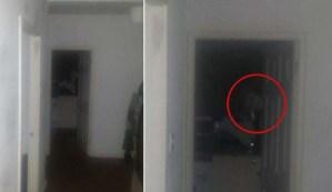 Un hombre huye de su casa después escuchar extraños ruidos y fotografiar un fantasma mirándolo fijamente