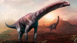 Hallan restos del dinosaurio terrestre más grande jamás encontrado
