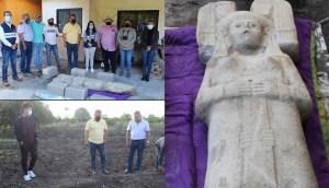 Hallazgo histórico en México agricultores encuentran figura de una diosa antigua