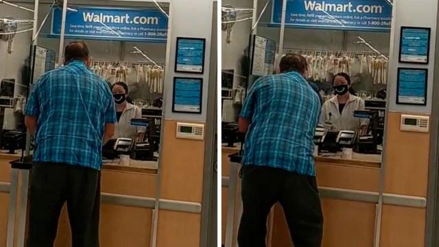 Una farmacia de Walmart rechaza vender medicamentos a un anciano que trataba de pagar con monedas