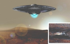 """Acusan a NASA de """"editar una nave alienígena en una foto de Marte"""""""