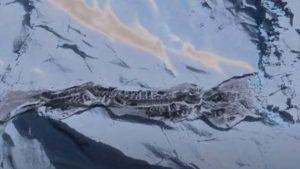Descubren los restos de una base nazi o extraterrestre en la Antártida