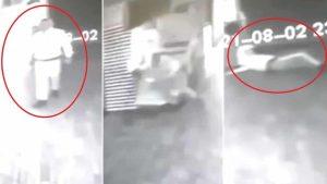 Alcalde colombiano publica un video de un fantasma atacando a un vigilante de seguridad