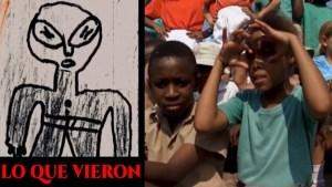 Nave Alienígena Aterrizando en una Escuela Africana: Más de 60 Estudiantes son Testigos