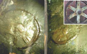 """¿Una rueda de carro de """"300 millones de años"""" hallada en una mina?"""