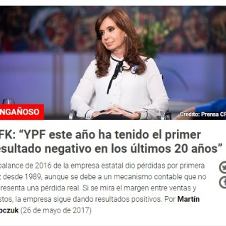 CFK chequeado