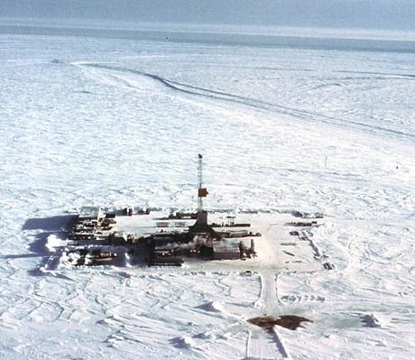 arctic oil rig on ice sml