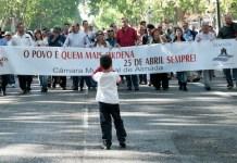 Movilizaciones en Portugal