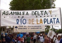 Movilizaciones en defensa del delta del Paraná y Río de la Plata
