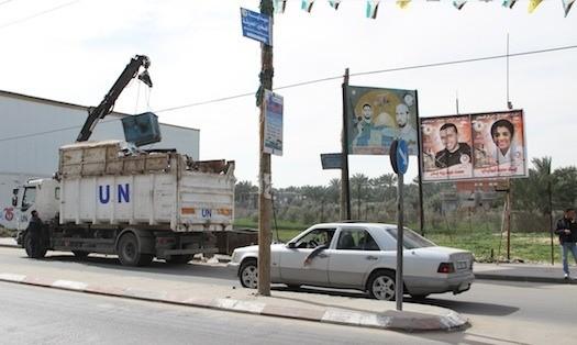 Recogida de basuras en Gaza