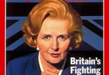 Margaret Thatcher portada de Time