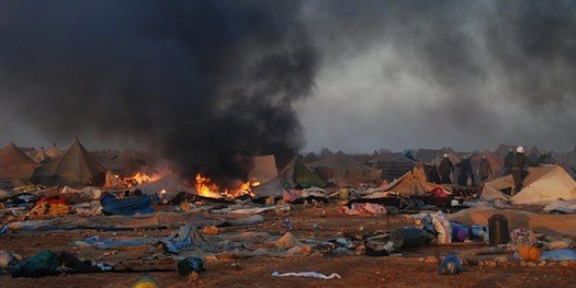Campamento de Gdim-Izik en Sahara Occidental. Foto: AI-AFP-Getty