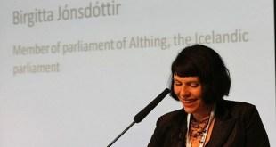 Birgitta Jonsdottir, líder de Piratar