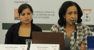Imelda Arana junto a Lidia García Díaz