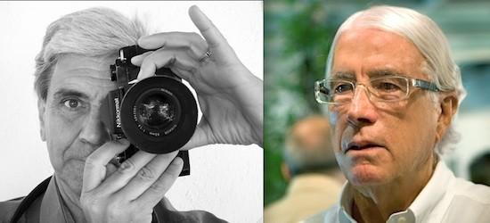 Bernard Plossu (izquierda), autorretrato. Carlos Pérez Siquier (derecha), foto Díaz-Maroto