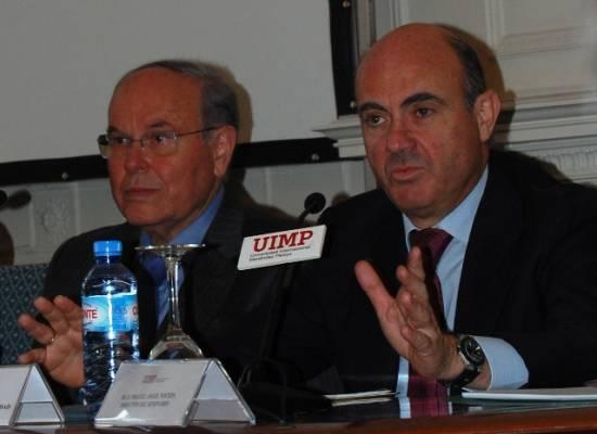 De Guindos y el rector de la UIMP