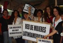 Marcha reivindicativa de mujeres latinoamericanas