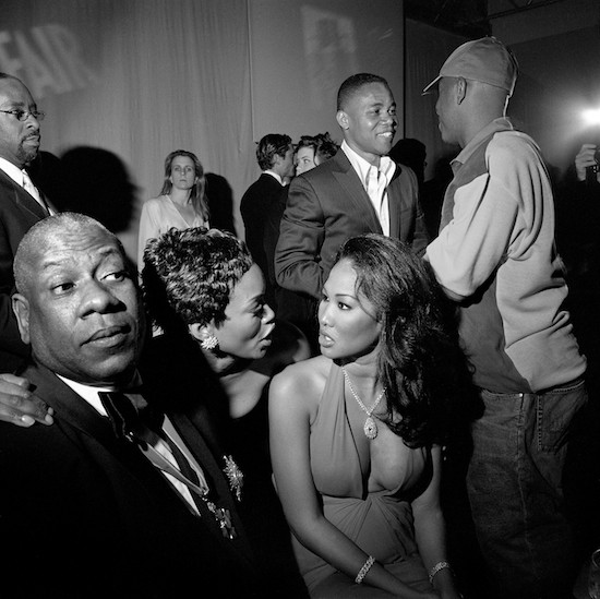 Courtney B. Vance, Andre Leon Talley, Angela Bassett, Kimora Lee Simmons, Cube Gooding, Russell Simmons, LA, 3/2002 © Larry Fink