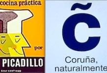 Picadillo (alcalde Manuel María Puga y Parga, 1874-1918) y logotipo de Turismo de A Coruña / La Coruña