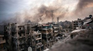 Edificios bombardeados en Alepo
