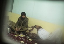 © Olivier Jobard / MYOP. Jawed and Rohani hiding in a relative's house. They can not go back home in Wardak province because of the Taleban threat. Kabul, Afghanistan, 28/03/2013