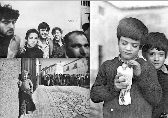Fotos de 'caza' (chicos en la cárcel), 'pesca' ('Niño de Lebrija') y 'agricultura' (niño con paloma herida)