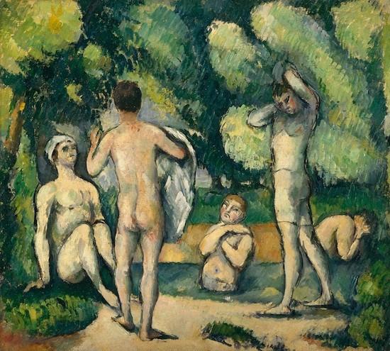 Cezanne: bañistas, 1880. Detroit Institute Arts