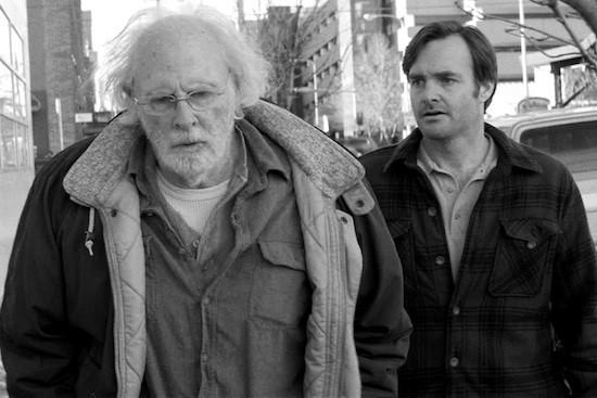 Bruce Dern y Will Forte en una escena de Nebraska