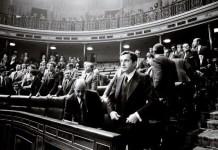 (C) Manuel López. Adolfo Suárezen el Congreso de los Dipotados, 1976