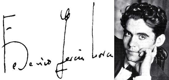 Federico García Lorca. Firma y retrato