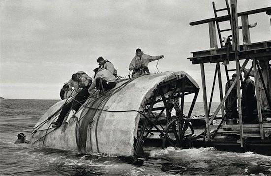 Moby Dick. Construcción ballena blanca. John Huston. Magnum Photos: Erich Lessing