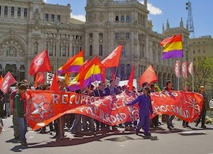 Manifestación sindical en Madrid