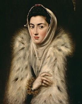 El Greco. La dama del armiño. 1579. Glasgow.Col. Stirling Maxwell.