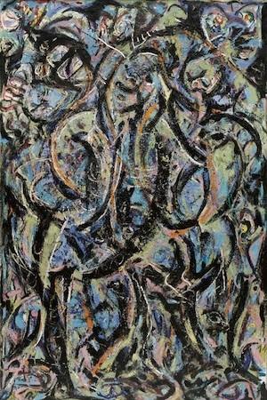 Jackson Pollock. Gótico. óleo sobre lienzo 215,5x142,1cm.1944. Nueva York, Museum of Modern Art. Bequest of Lee Krasner