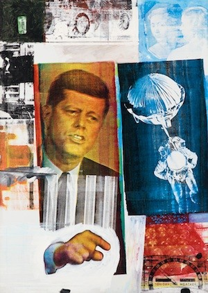 Robert Rauschenberg. Retroactivo II, 1963. Óleo, serigrafía y tinta sobre lienzo, 203,2x152,4 cm. Colección Museum of Contemporary Art Chicago, donación parcial de Stefan T. Edilis y H. gael Neeson. Foto © Museum of Contemporary Art Chicago, Foto Nathan Keay © Estate of Robert Rauschenberg./VAGA, New York, Vegap, Madrid, 2014