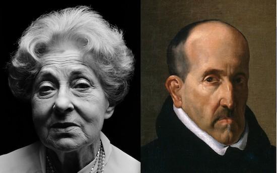 María Zambrano retratada por Schommer y Luis de Góngora retratado por Velázquez