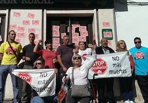 Movilización contra los desahucios en Granada