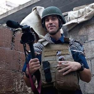 James Foley en un frente de guerra