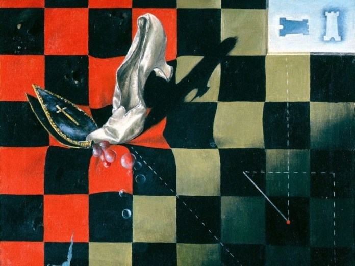 Dorothea Tanning, endgame, fin de la partida de ajedrez