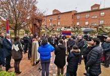 Inauguración del jackhar, monolito armenio, en El Burgo de Osma