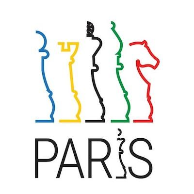 Logo del Ajedrez para optar a los Juegos Olímpicos París 2024.